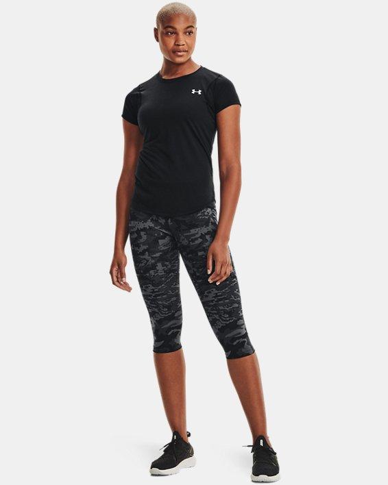 T-shirt à manches courtes UA Streaker pour femme, Black, pdpMainDesktop image number 1