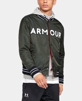 UA Exclusives Men's UA Be Seen Bomber Jacket  1  Color Available $110