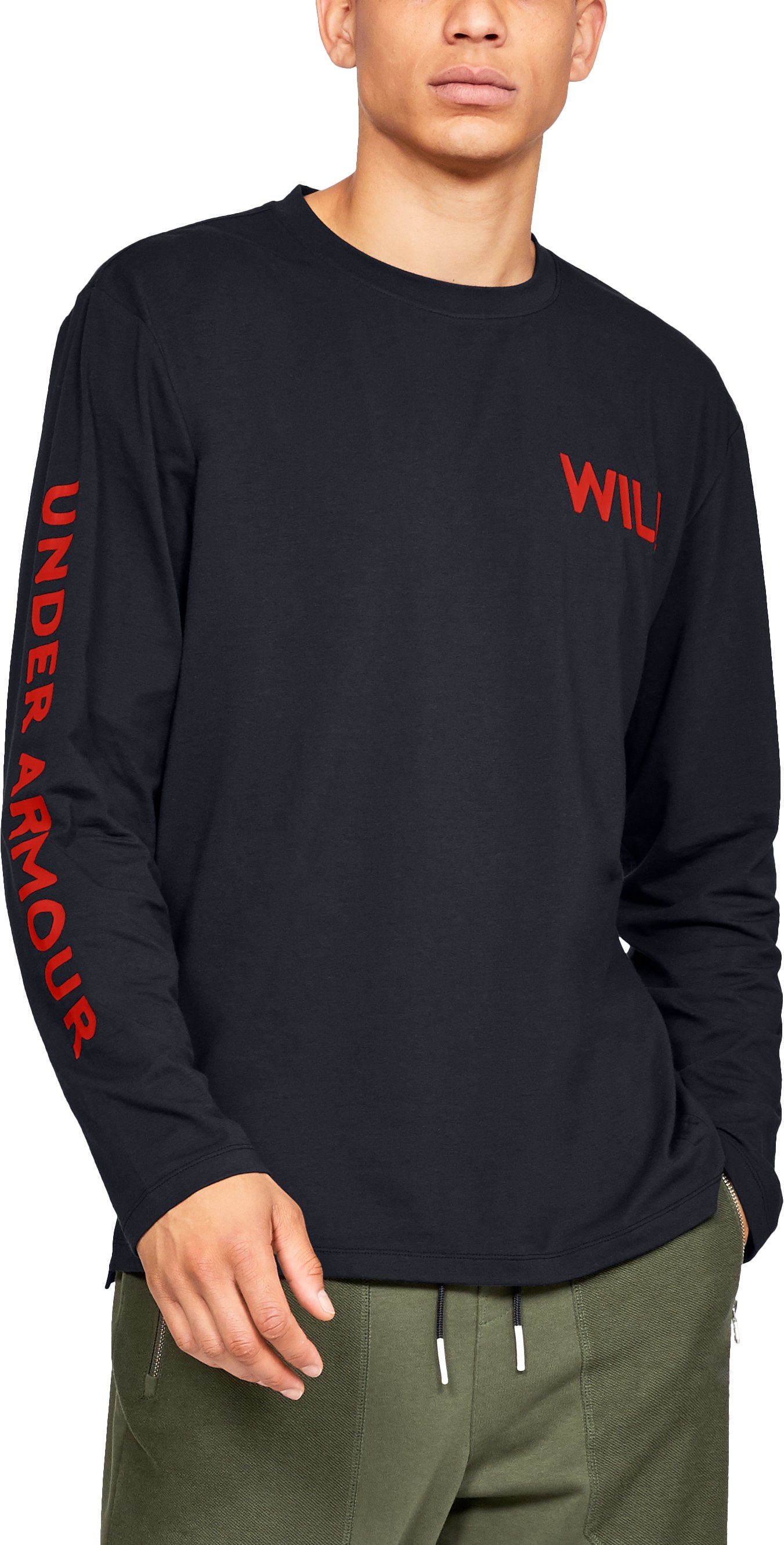 Men's UA Be Seen Long Sleeve Graphic, Black ,
