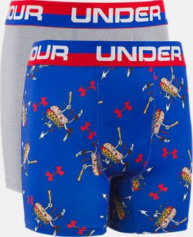 New Arrival Boys' UA Original Series Home Run Hot Dog Boxerjock® 2-Pack  1  Color Available $19.99