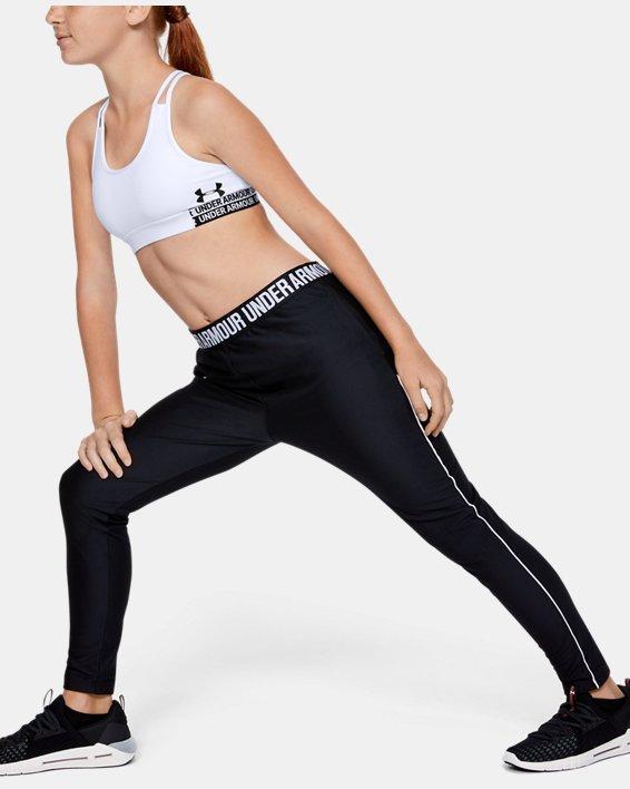 Girls' HeatGear® Armour Sports Bra, White, pdpMainDesktop image number 1