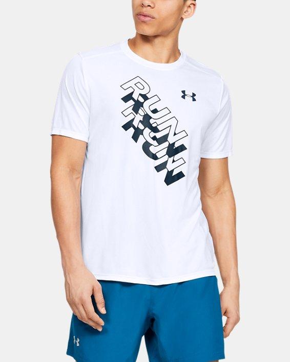 Men's UA International Run Day GX T-Shirt, White, pdpMainDesktop image number 0