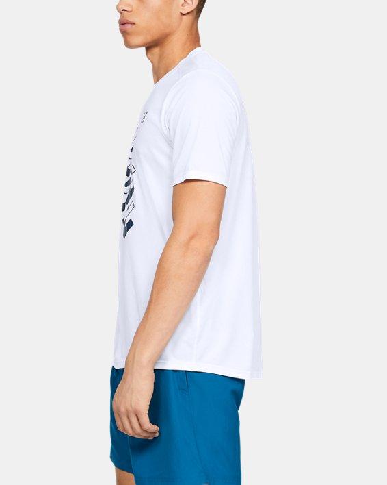 Men's UA International Run Day GX T-Shirt, White, pdpMainDesktop image number 3