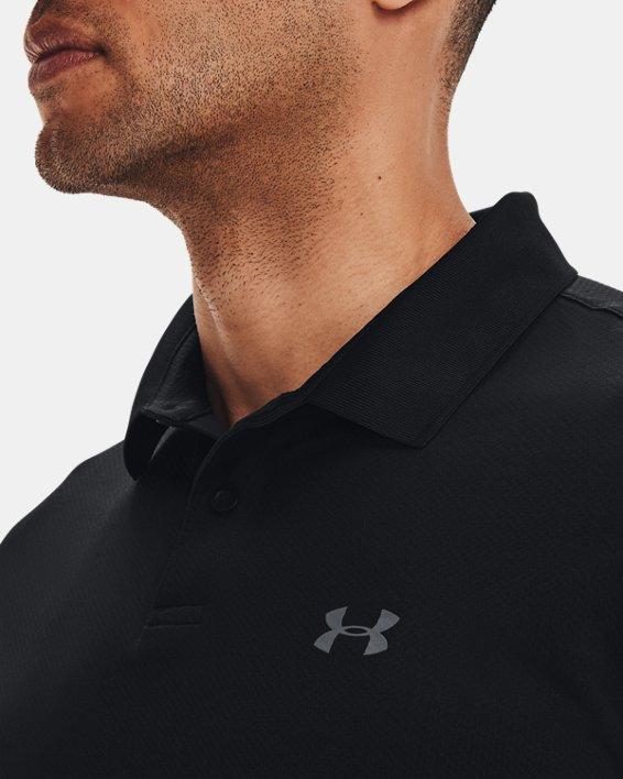 Men's UA Performance Polo Textured, Black, pdpMainDesktop image number 6