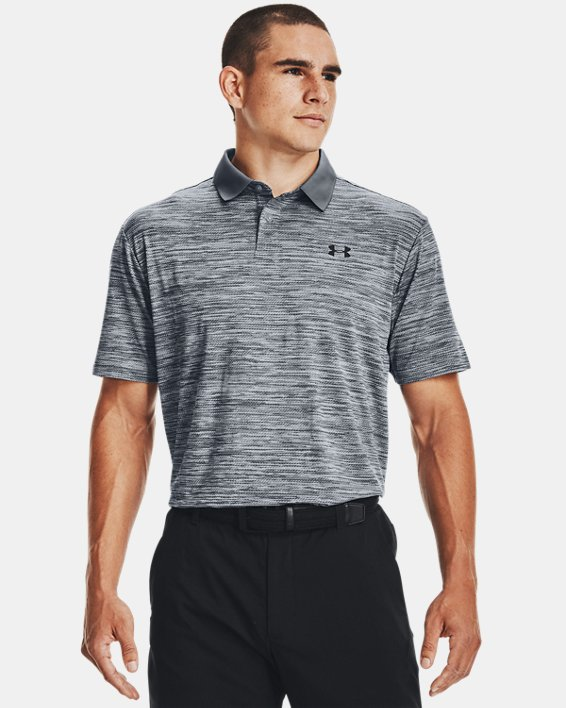 Men's UA Performance Polo Textured, Gray, pdpMainDesktop image number 1