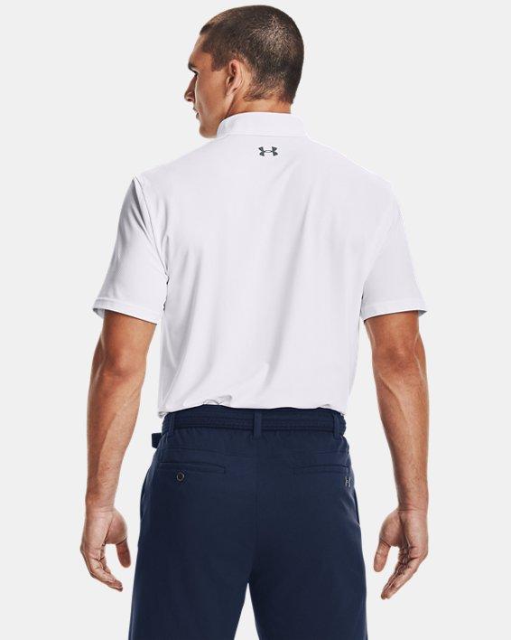 Men's UA Performance Polo Textured, White, pdpMainDesktop image number 2
