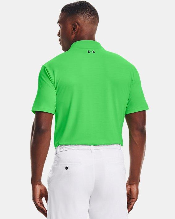 Polo texturizado UA Performance para hombre, Green, pdpMainDesktop image number 2
