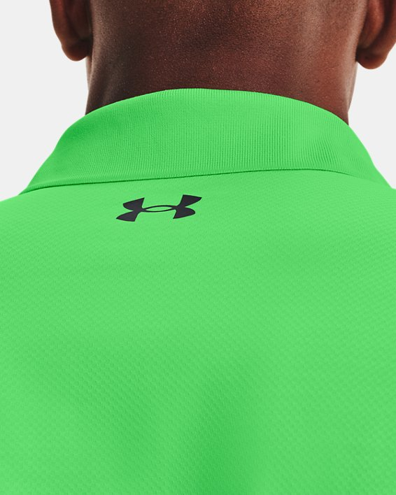 Polo texturizado UA Performance para hombre, Green, pdpMainDesktop image number 5