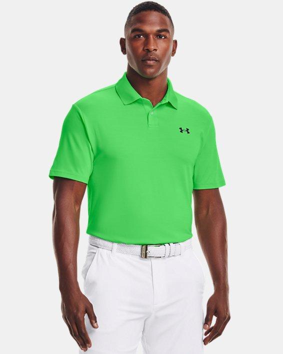 Polo texturizado UA Performance para hombre, Green, pdpMainDesktop image number 1