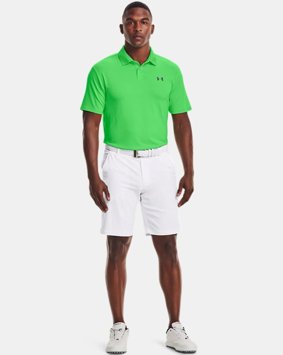 Polo texturizado UA Performance para hombre, Green, pdpMainDesktop image number 0