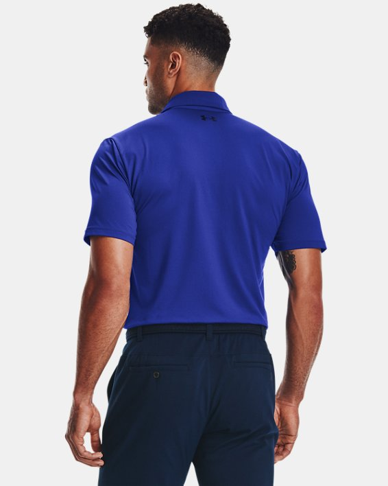 Men's UA Performance Polo Textured, Blue, pdpMainDesktop image number 2