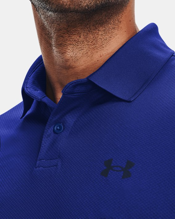 Men's UA Performance Polo Textured, Blue, pdpMainDesktop image number 5