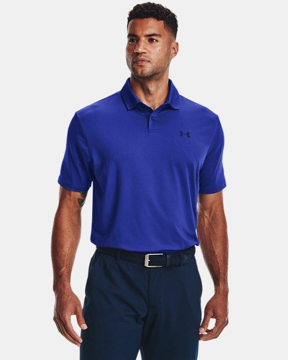 Men's UA Performance Polo Textured, Blue, pdpMainDesktop image number 1