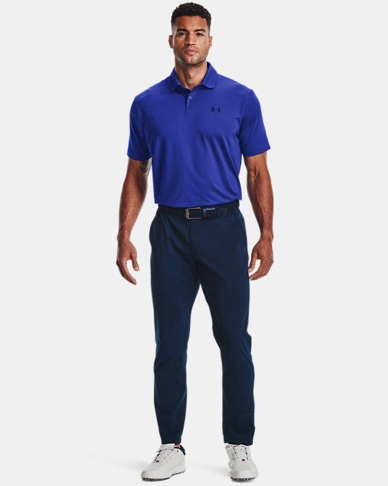 Men's UA Performance Polo Textured, Blue, pdpMainDesktop image number 0