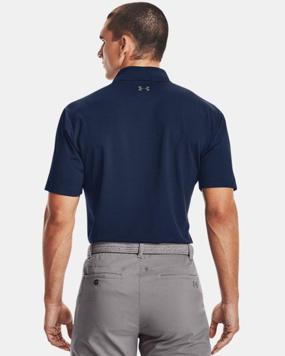 Men's UA Performance Polo Textured, Navy, pdpMainDesktop image number 2
