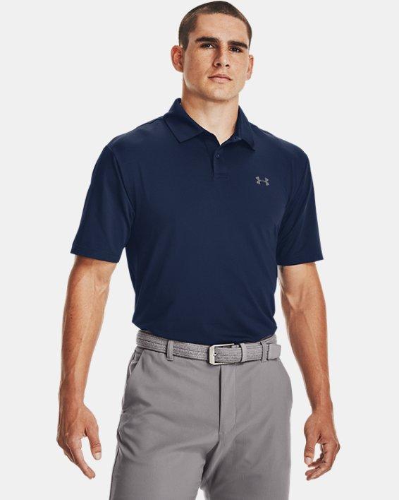 Men's UA Performance Polo Textured, Navy, pdpMainDesktop image number 1