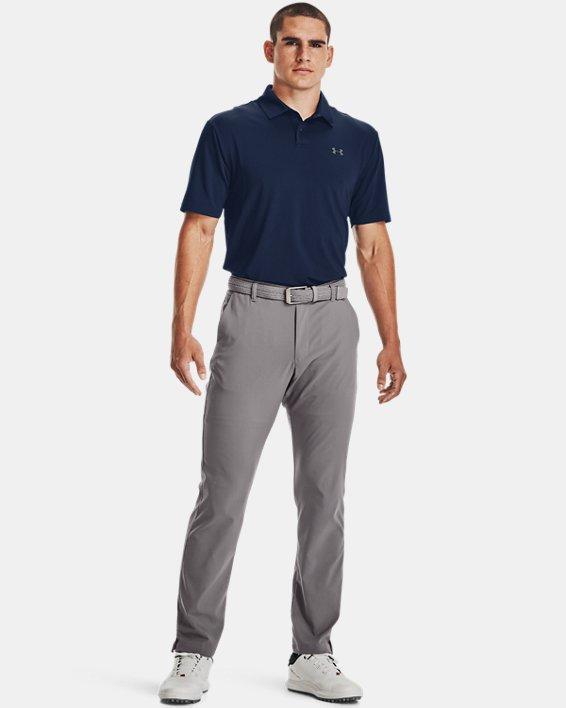 Men's UA Performance Polo Textured, Navy, pdpMainDesktop image number 5