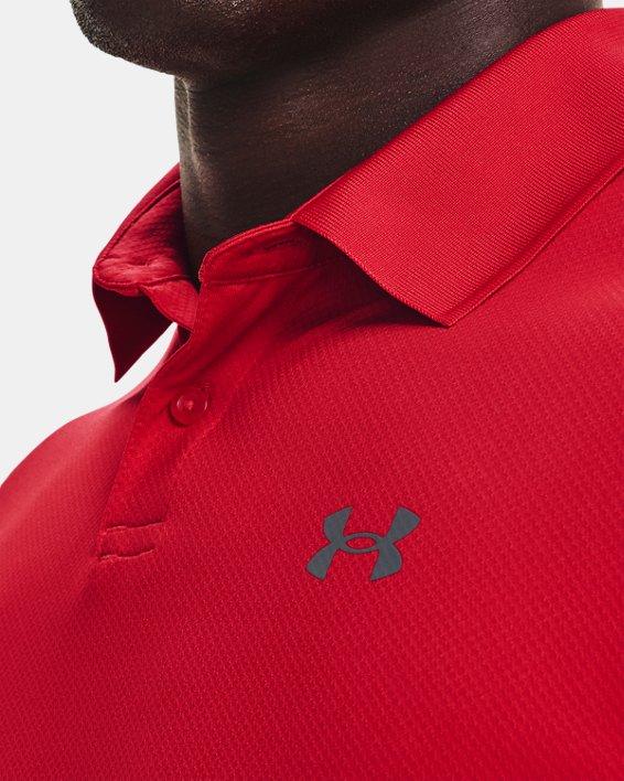 Herenpolo UA Performance Textured, Red, pdpMainDesktop image number 5