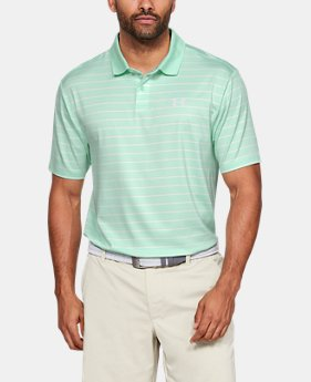 12546dc77 New to Outlet Men's UA Performance Polo Textured Stripe 1 Color Available  $48.99