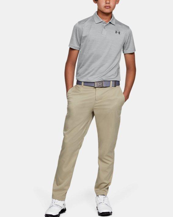 Boys' UA Performance Polo Textured, Gray, pdpMainDesktop image number 1