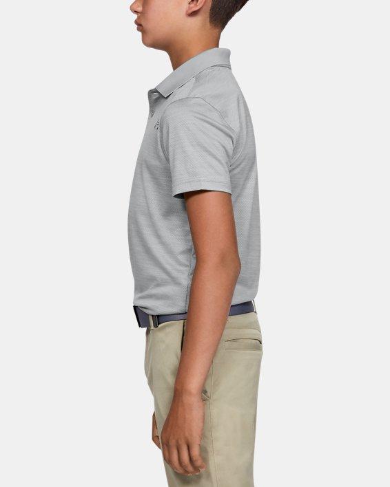 Boys' UA Performance Polo Textured, Gray, pdpMainDesktop image number 3