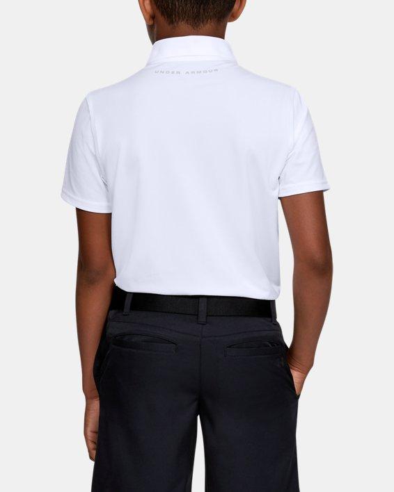 Boys' UA Performance Polo Textured, White, pdpMainDesktop image number 2