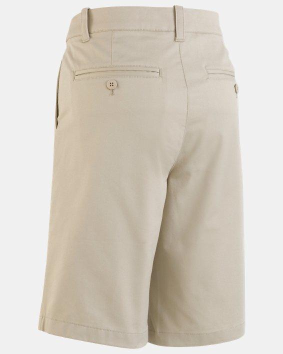 Boys' UA Uniform Chino Slim Fit Shorts, Brown, pdpMainDesktop image number 3