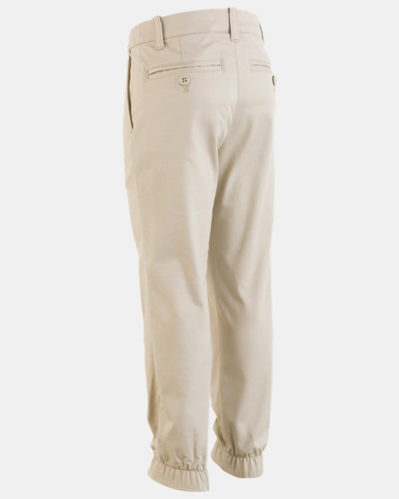 Boys' Pre-School UA Uniform Slim Fit Joggers, Brown, pdpMainDesktop image number 1