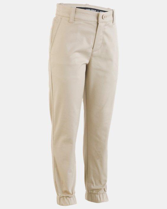 Boys' Pre-School UA Uniform Slim Fit Joggers, Brown, pdpMainDesktop image number 0