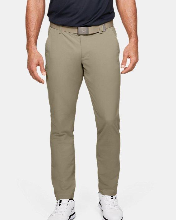 Men's UA Match Play Tapered Pants, Brown, pdpMainDesktop image number 0