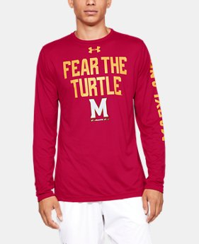 Men's UA Tech™ Collegiate Long Sleeve  1  Color Available $28