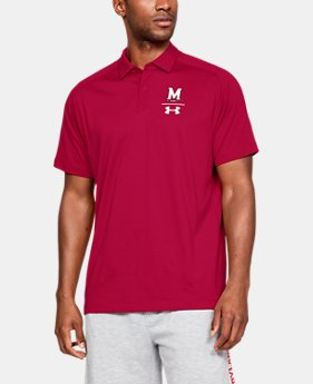 New Arrival Men's UA Pinnacle Polo Collegiate  2  Colors Available $85