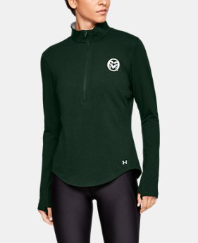 New Arrival Women's Charged Cotton® ½ Zip Collegiate  1  Color Available $60