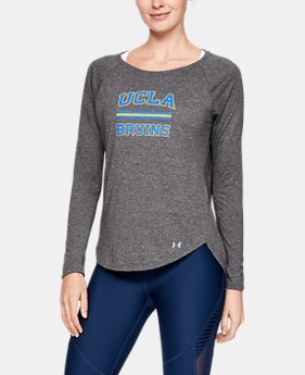 New Arrival Women's UA Microthread Spine Collegiate Long Sleeve  5  Colors Available $50