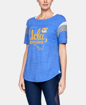 New Arrival Women's UA Iconic Neppy FB Collegiate T-Shirt  5  Colors Available $55