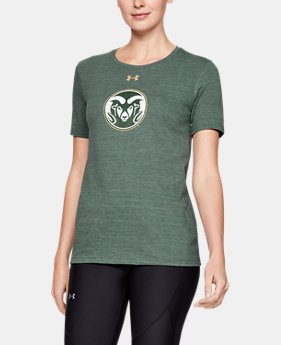 New Arrival Women's UA Tri-Blend Collegiate Short Sleeve Shirt  1  Color Available $35