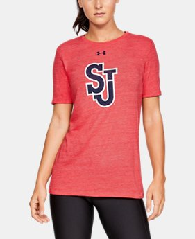 New Arrival Women's UA Tri-Blend Collegiate Short Sleeve Shirt  2  Colors Available $35