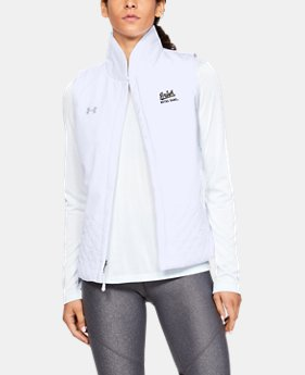 New Arrival Women's UA Mixed Media Vest Collegiate  1  Color Available $100