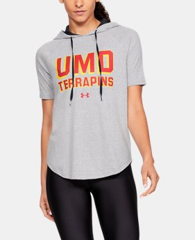 New Arrival Women's UA Tri-Blend Collegiate Short Sleeve Hoodie  4  Colors Available $55