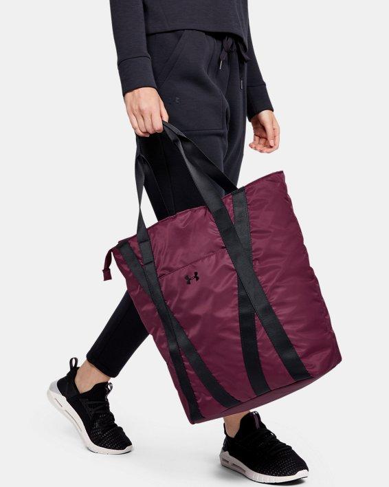 Women's UA Essentials Zip Tote, Purple, pdpMainDesktop image number 0