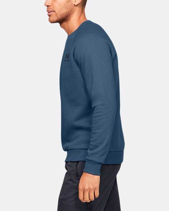 Men's UA Rival Fleece Crew, Blue, pdpMainDesktop image number 3