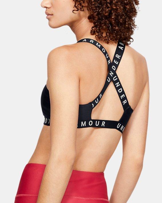 Women's UA Wordmark Strappy Solid Sportlette, Black, pdpMainDesktop image number 1