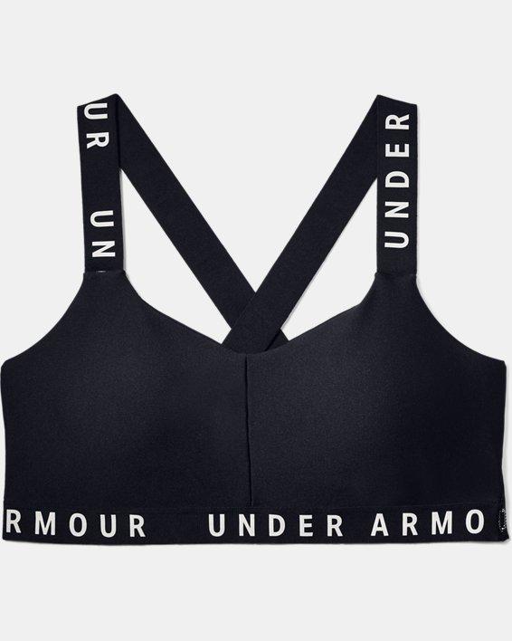 Women's UA Wordmark Strappy Solid Sportlette, Black, pdpMainDesktop image number 2