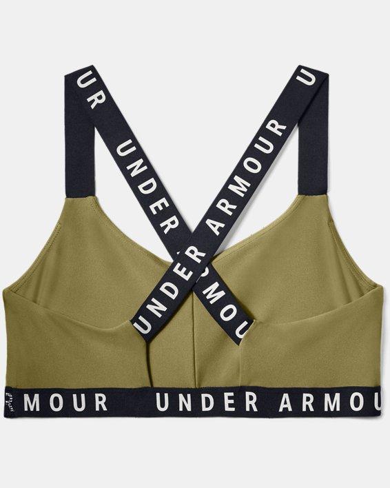 Women's UA Wordmark Strappy Solid Sportlette, Green, pdpMainDesktop image number 3