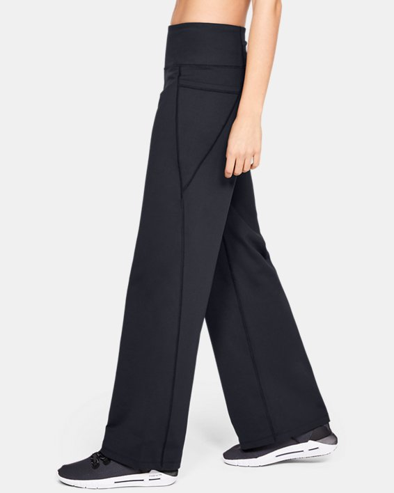 Women's UA All Around Wide Leg Pants, Black, pdpMainDesktop image number 3