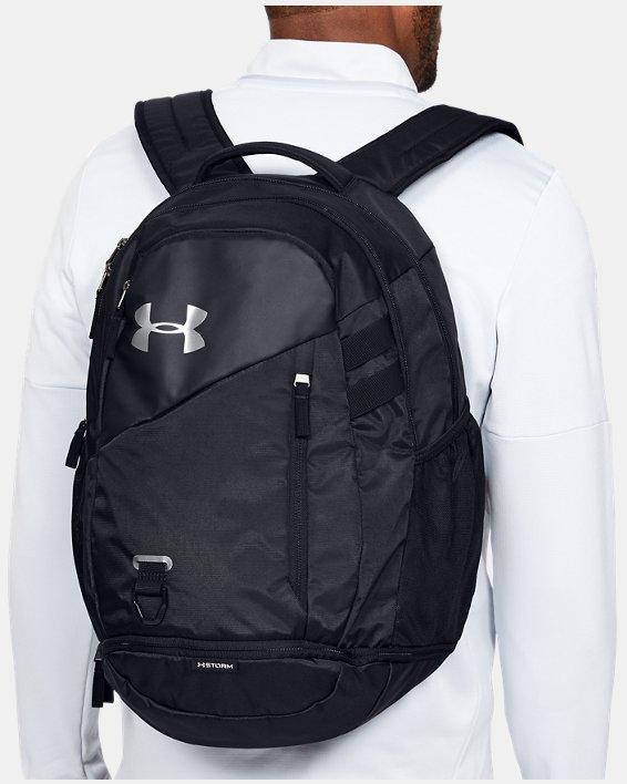 UA Hustle 4.0 Backpack, Black, pdpMainDesktop image number 0