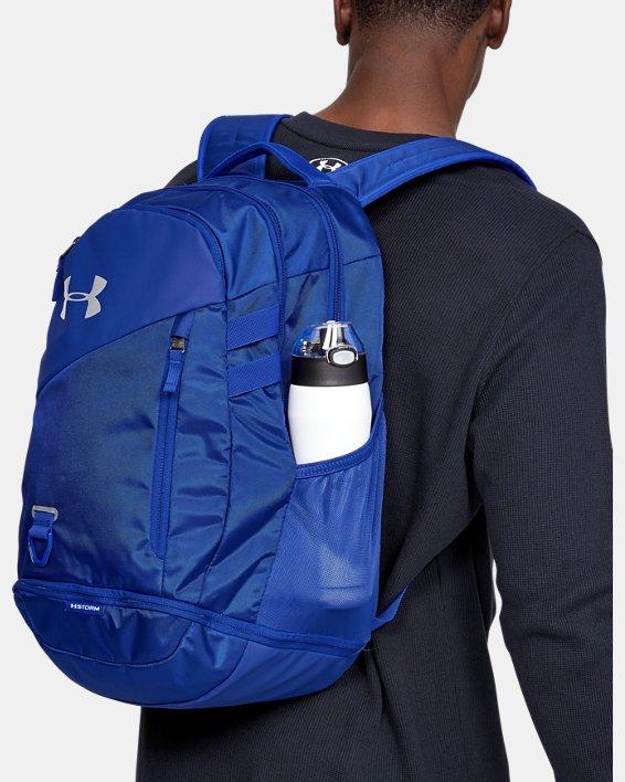 UA Hustle 4.0 Backpack, Blue, pdpMainDesktop image number 0