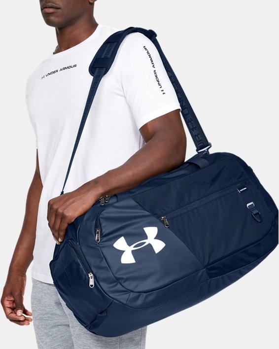 UA Undeniable Duffle 4.0 Medium Duffle Bag, Navy, pdpMainDesktop image number 0