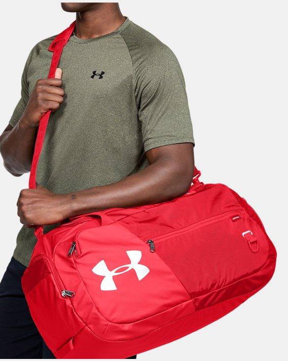 UA Undeniable Duffle 4.0 Medium Duffle Bag, Red, pdpMainDesktop image number 0