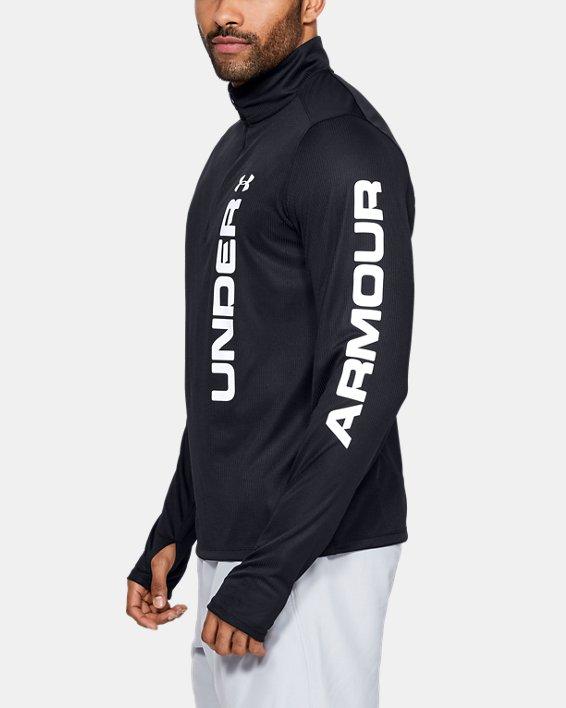 Men's UA Speed Stride Split ¼ Zip, Black, pdpMainDesktop image number 0